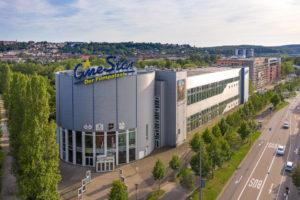Cinestar Gebäudeaufnahme mit Drohne